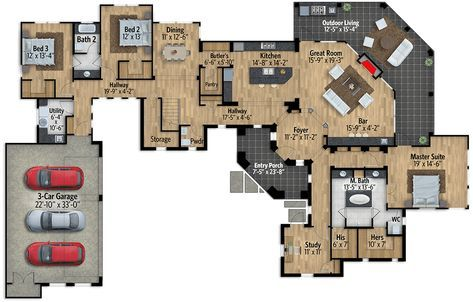 Plan 430033ly Impressive Exclusive Tuscan House Plan With Game Room Tuscan House Plans Tuscan House House Plans