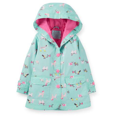 7c30ba71252e Dog Print Raincoat