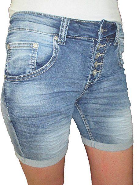 elegantes und robustes Paket billiger perfekte Qualität Sweat Denim Krempel Bermuda Capri Jeans Hose Shorts offene ...