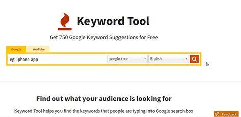 Keyword Tool Http Keywordtool Io Keyword Research Tool Using Google Autocomplete Seo Keywordresearch Keyword Tool Keyword Suggestion Keyword Planner