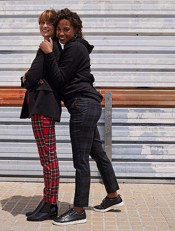 Pantalon Escoces Pantalones Pitillo Mujer Pantalones Pantalon Pitillo