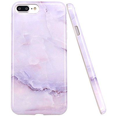 Amazon Com Iphone 7 Plus Case Iphone 8 Plus Case Jaholan White Jade Marble Design Clear Bumper Tpu Soft Rubber Silicone C Iphone 6 Plus Case Iphone Iphone 7