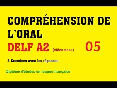 Compréhension De L Oral A2 Delf A2 Comprehension De L Oral No 5 Youtube Francuzskij