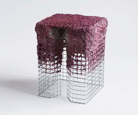 Papier-Mâché Furniture British designer James Shaw has come up with a way to create furniture by spray-painting it.