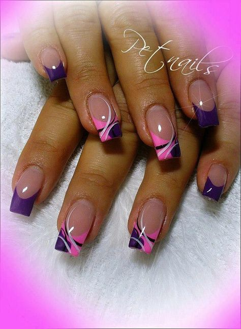 # Design # pretty # purple # nails # pink # and - nagelpflege -