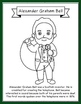 Alexander Graham Bell Erfinder Malvorlagen Basteln Oder Poster