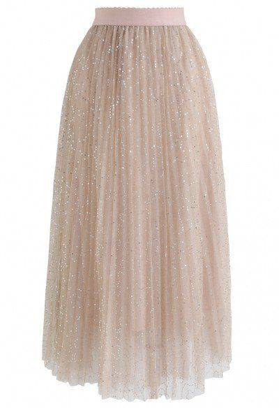 Florescent Dreams Mesh Pleated Tulle Midi Skirt in Pink - Retro, Indie and Unique Fashion
