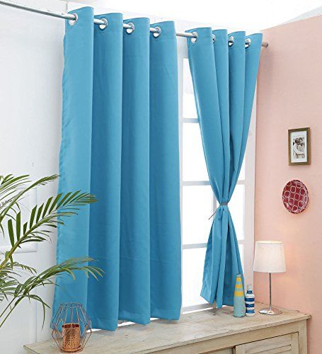 Cliths Turquoise 2 Panels Eyelet Room Darkening Blackout Https Www Amazon In Dp B07dt4sgnx Ref Cm Sw R Pi Dp U X E7 Curtains Blackout Curtains Home Decor
