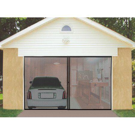 Garage Screen Door With Magnetic Center Snap Closure 8 W X 7 L Walmart Com Garage Screen Door Single Garage Door Garage Door Installation