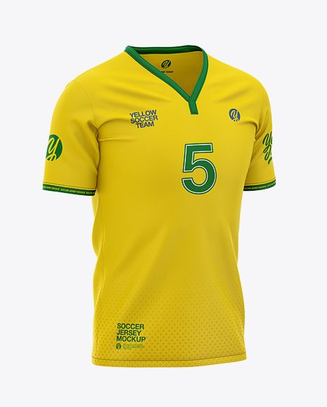 Download Men S Soccer Y Neck Jersey Mockup Front Half Side View Football T Shirt Mockup In Apparel Mockups On Yellow Images Object Mockups Shirt Mockup Clothing Mockup Design Mockup Free