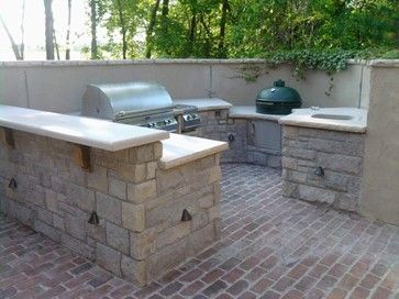 Outdoor Kitchen With Natural Stone Traditional Grills Kansas City By Sturgis Material Inc Outdoor Furniture Sets Outdoor