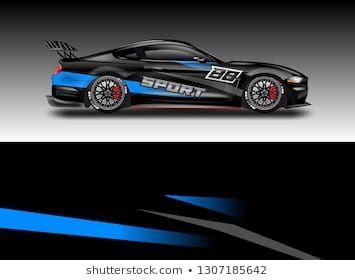 Car Wrap Decal Design Vector Graphic Abstract Background Kit Designs For Vehicle Race Car Rally Livery Autos Folieren Vektorgrafik Grafik