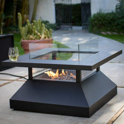 Red Ember Kiel 34 In Gas Fire Pit Table With Optional Tank Hideaway Table Hayneedle Gas Fire Pit Table Gas Firepit Fire Table