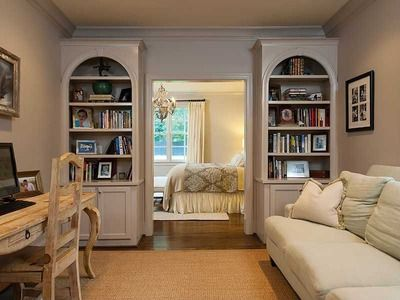 Master bedroom with sitting room. Sitting room has French doors that ...