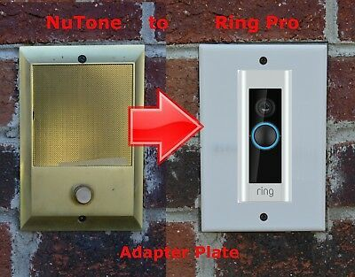 Ring Pro Doorbell Adapter Plate Nutone