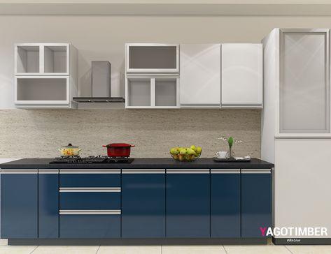 Yagotimber presents the parallelshaped modular kitchen