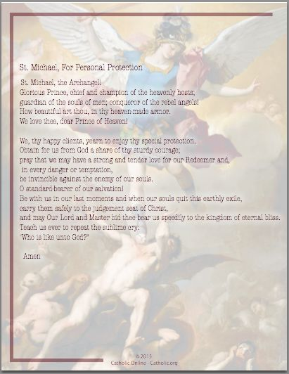 Catholic Spiritual Warfare Prayers Pdf