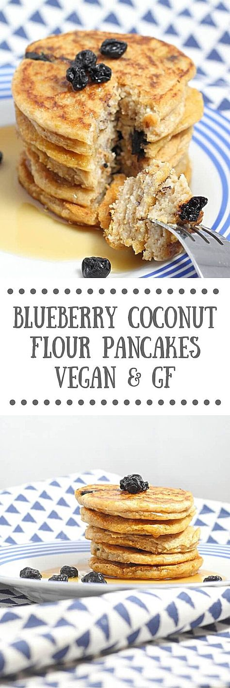 Blueberry Coconut Flour Pancakes - Vegan & Gluten-free Recipe Blueberry Coconut Flour Pancakes | Vegan, Gluten-free - Fluffy and soft coconut flour pancakes that are vegan and gluten-free. Made with blueberries and topped with maple syrup. #woadelish #cooking #foodofmumbai #foodrevolution #foodculture #chocolate #foodspiration #food #instafood #foodpicoftheday #foodfacts #drinks #foodvideo #instalike #lunch #foodfoto