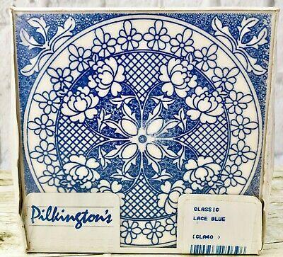 Vintage Pilkington S Classic Lace Blue Glazed Universal Ceramic Tiles Box Of 18 With Images Classic Lace Ceramic Tiles Vintage Tile