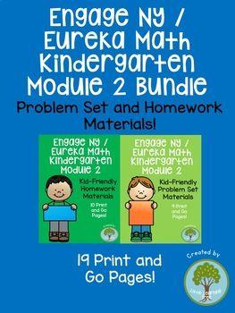 Engage NY / Eureka Math Kindergarten Module 2 Supplemental