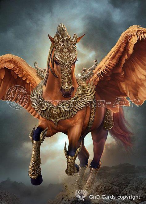 Cute Fantasy Creatures, Magical Horses, Unicorn Fantasy, Mystical Animals, Fantasy Art, Creature Art, Fantasy Creatures Art, Dark Fantasy Art, Pegasus