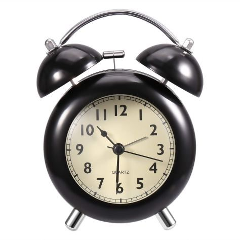 Vintage Extra Loud Alarm Clock Twin Bell Battery Analogy Backlight Bedroom Black Home Garden Alarm Clocks Clock Radios