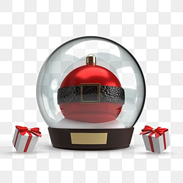 Red Christmas Ball Inside A Snow Globe 3d Illustration New Year Clipart Celebration Gift Png Transparent Clipart Image And Psd File For Free Download Christmas Balls Red Christmas Background Christmas Balls