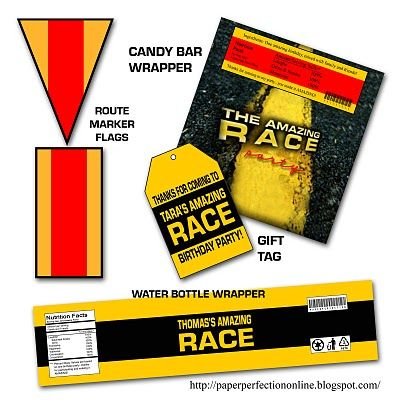 Amazing Race Invitation And Party Printables Including Clue