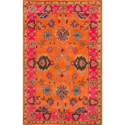 nuLOOM Montesque Orange 4 ft. x 6 ft. Area Rug-SPRE21A-406 - The Home Depot