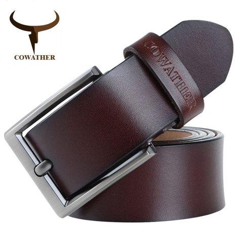 Vintage Old School men's belt from genuine cow leather