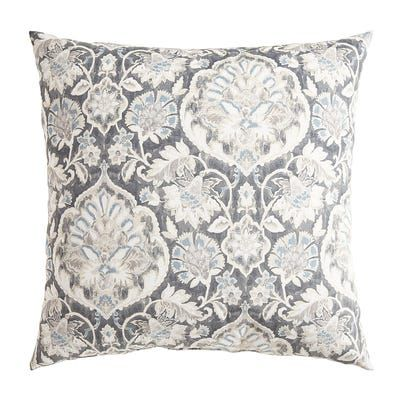 Gray Medallion Pillow | Pillows, Throw