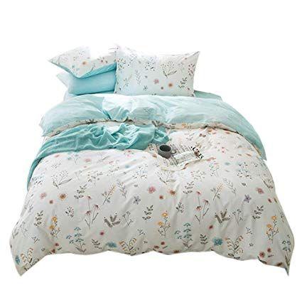 Fendie Floral Duvet Cover Set Queen Reversible Bedding Set With Zipper Closure 100 Cotton Girls Duvet Cover Girls Duvet Covers Girls Duvet Duvet Cover Pattern