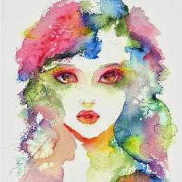 Girl Watercolor Painting Easy With Images Watercolor Paintings