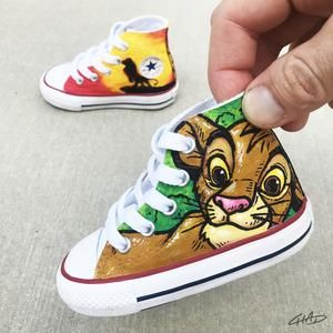 Lion King Custom Hand Painted Toddler Converse Chucks | Lion