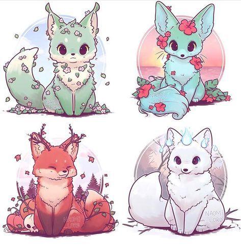 70 Ideas For Anime Art Cute Baby Animals Animal Drawings Cute Animal Drawings Cute Art