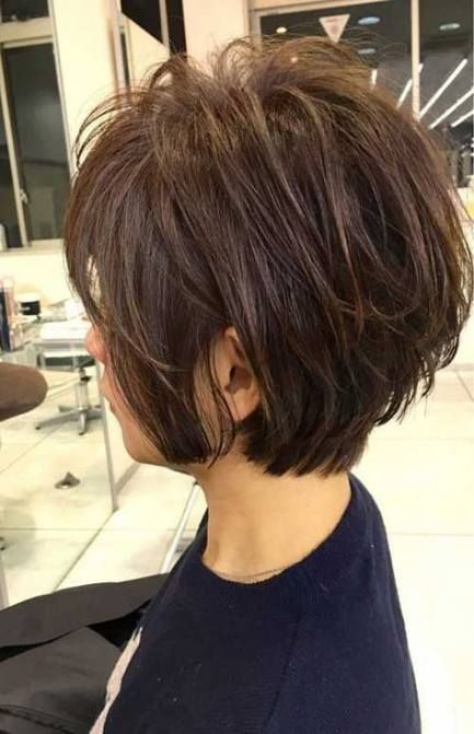 New Hair Short Styles Over 50 Layered Bobs Round Faces 30 Ideas Modern Short Hairstyles Hair Styles Older Women Hairstyles