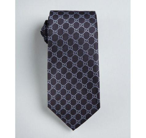 85e3971703084 Gucci navy and light blue GG plus silk tie