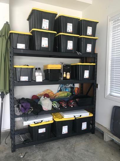 User Submitted Photo Garage Storage Steel Shelving Unit Storage Shelves