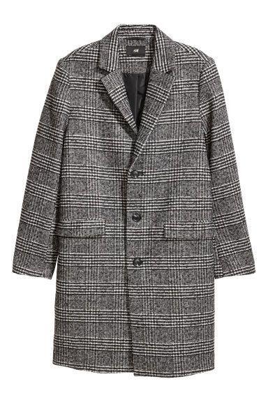 d0ca1d5d7 Wool-blend coat - Grey/Checked - Men | HM GB | CAMEL COAT | Mens ...