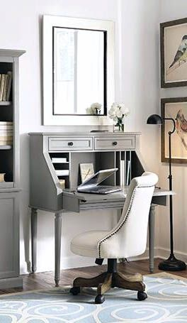 Fresh Ideas Of Small Writing Desk For Your Comfy Home Office With The Limited Space Desks For Small Spaces Home Office Space Small Secretary Desk