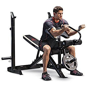 Marcy Adjustable Olympic Weight Bench With Leg Developer And Squat Rack Md 879 Weight Benches Olympic Weights At Home Gym
