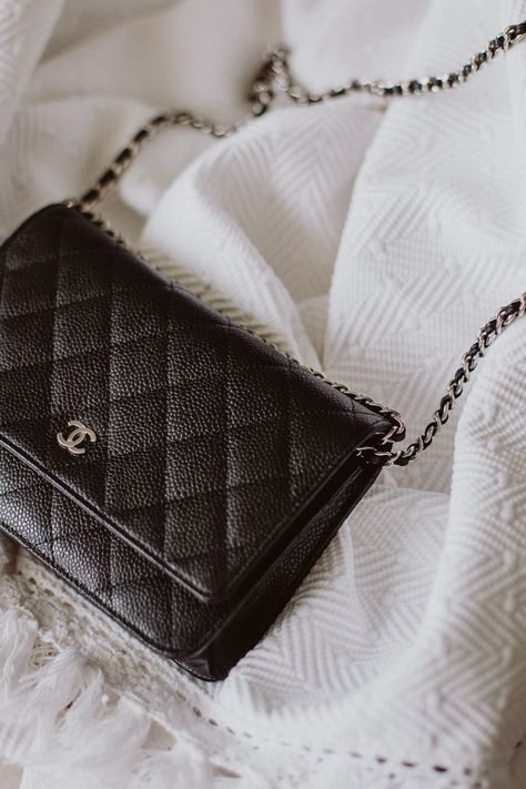 28172b4b0a4628 Chanel Wallet on Chain Review: Classic Black Caviar Leather + Silver  Hardware | Bikinis & Passports