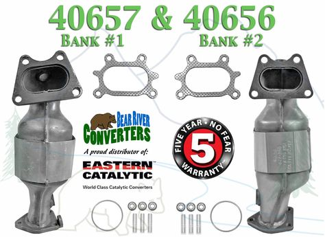 Bank 2 2004-2007 Saturn Vue 3.5L V6 Exhaust Direct-Fit Catalytic Converter