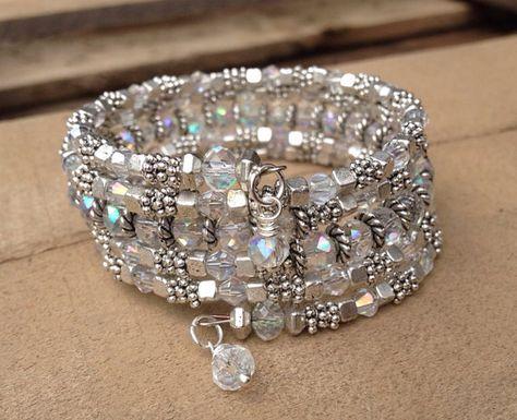 Bridal Sparkler Multi Strand Wrap Bracelet With by McHughCreations, $37.95