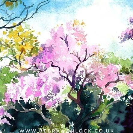 Feeling Wistful For Wisteria Love This Watercolour Wisteria