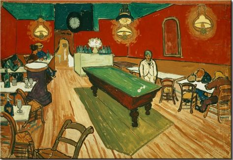 Night Cafe with Pool Table by Vincent Van Gogh 24x36 Art Print Poster