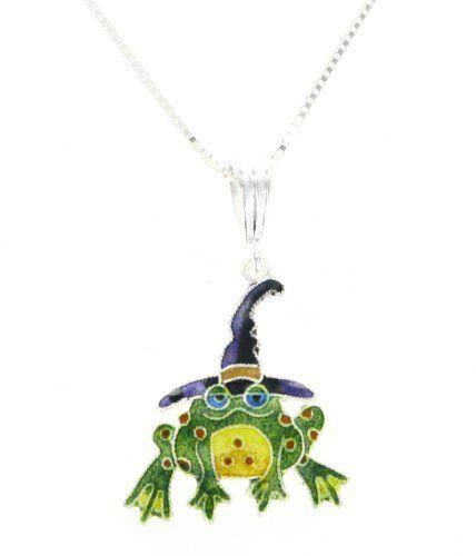 Women Blue Enamel Frog Tortoise Infinite 8 Pendant Necklace Chain Silver Plated