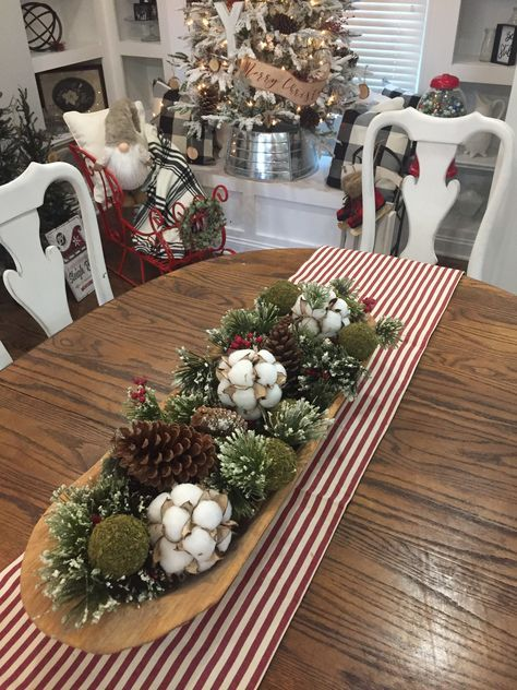Kitchen Table Centerpiece Candles Dough Bowl 38 Ideas Christmas Dining Room Table Christmas Table Centerpieces Christmas Bowl Decorations