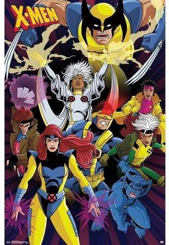 22375 X 34 Marvel Comics The X Men Awesome Unframed Wall Poster Print Trends International In 2020 80s Cartoons Cartoon Poster Prints