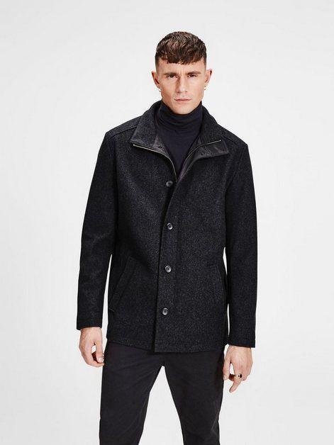 Wolle Mantel Mantel Jack Jones Outfit